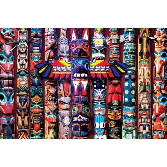Eurographics 1000 db-os puzzle - Totem Poles - 6000-5349