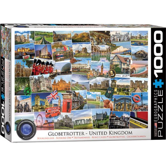 Eurographics 1000 db-os puzzle - Globetrotter United Kingdom - 6000-5464