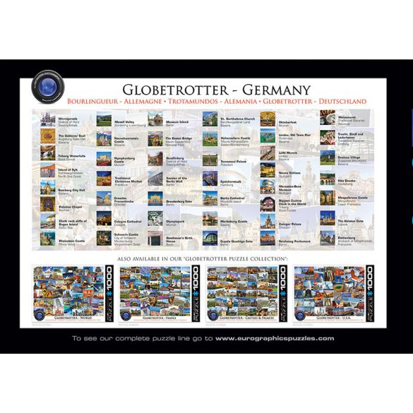 EuroGraphics 1000 db-os Puzzle - Globetrotter Germany - 6000-5465