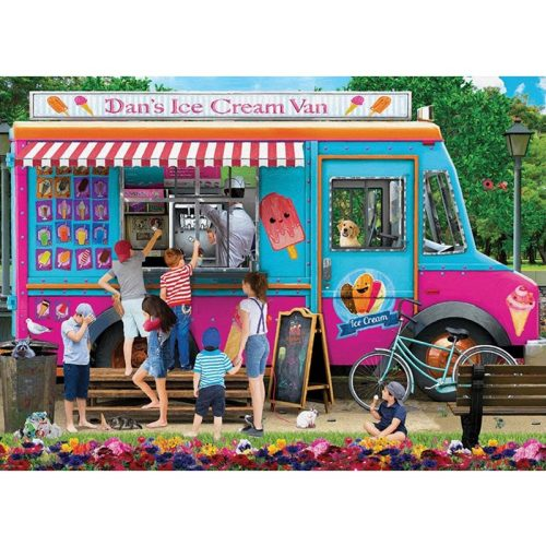 EuroGraphics 1000 db-os puzzle - Dan's Ice Cream Van 6000-5519