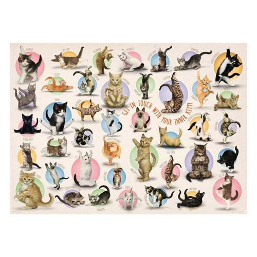 Eurographics 500 db-os puzzle - XXL Pieces - Familiy Puzzle: Yoga Kittens - 6500-0991