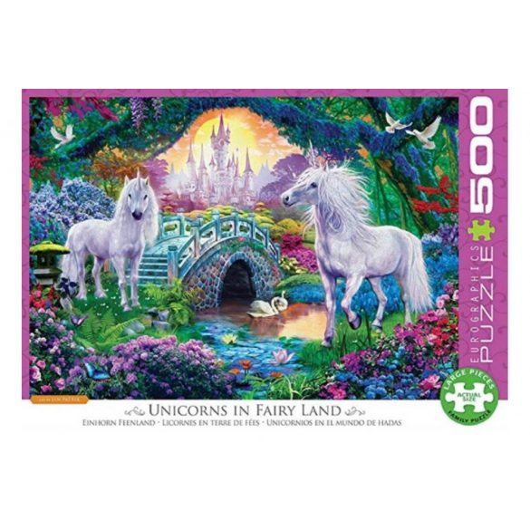 Eurographics 500 db-os puzzle - XXL Pieces - Unicorn Fairy Land - 6500-5363