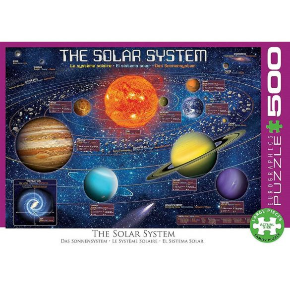 Eurographics 500 db-os puzzle - XXL Pieces - The Solar System Illustrated - 6500-5369