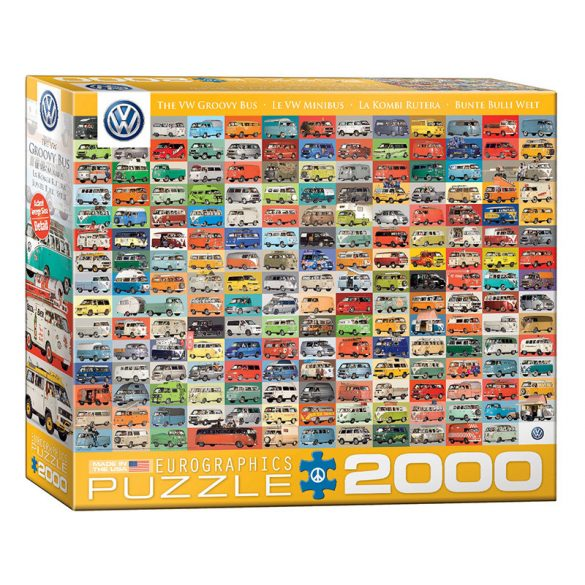 EuroGraphics 2000 db-os Puzzle - Volkswagen Groovy Bus Collage - 8220-0783