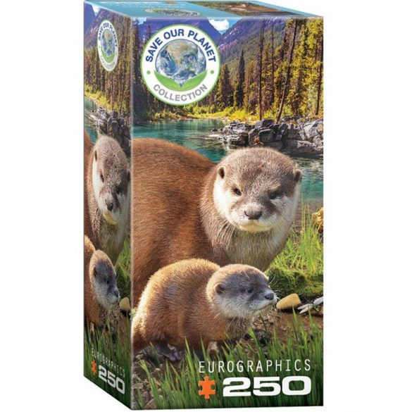 Eurographics 250 db-os puzzle - Save the Planet - Otters 8251-5558