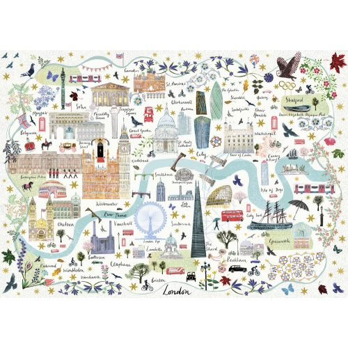 Gibsons 1000 db-os puzzle - Map of London 6606