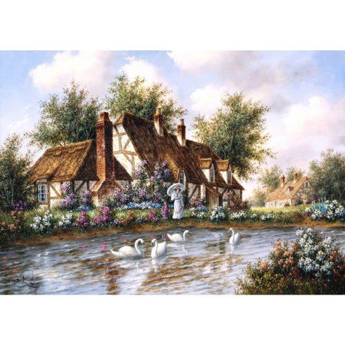 Grafika 1000 db-os puzzle - Dennis Lewan: Admiring The Swans 00504T