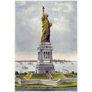 Grafika 1000 db-os puzzle - Statue of Liberty 00580
