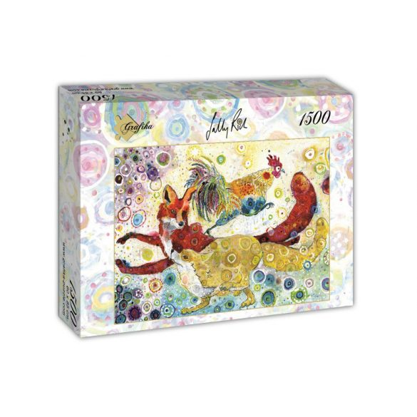 Grafika 1500 db-os puzzle - Sally Rich: Leaping Fox's 00880T