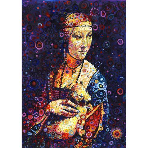 Grafika 1500 db-os puzzle - Leonardo da Vinci: Lady with an Ermine, by Sally Rich 00888T