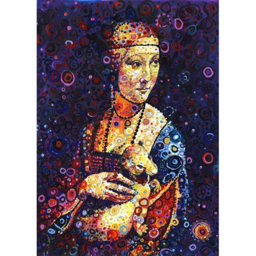 Grafika 500 db-os puzzle - Leonardo da Vinci: Lady with an Ermine, by Sally Rich 00890T