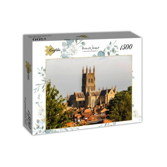 Grafika 1500 db-os puzzle - Worcester Cathedral viewed from Fort Royal Park 00936T