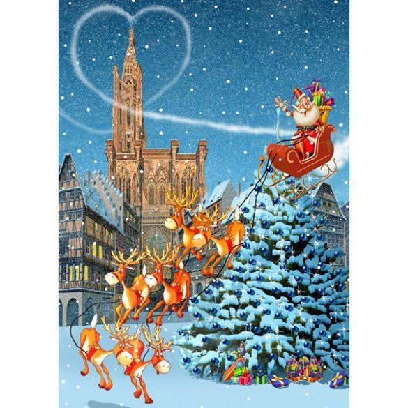 Grafika 1000 db-os puzzle - Strasbourg Cathedral at Christmas 00943T