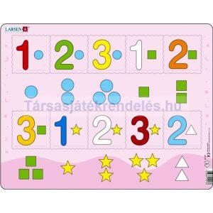 Larsen maxi lap puzzle 10 db-os Számok 1-3-ig AR16