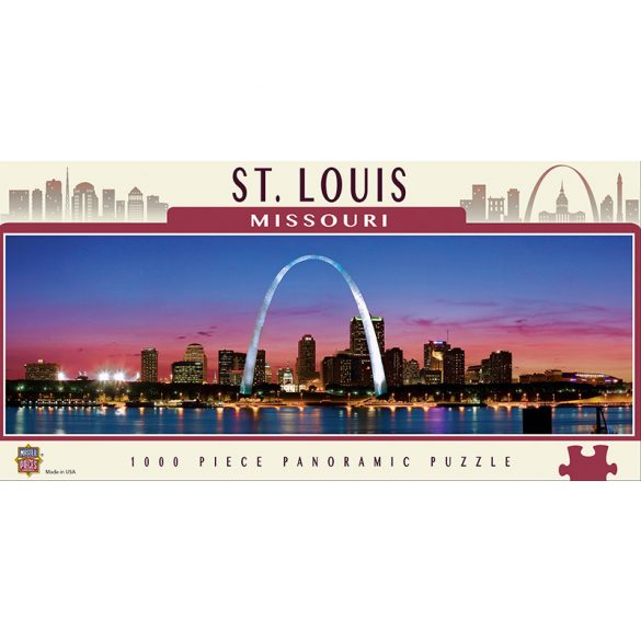 Master Pieces 1000 db-os panoráma puzzle - Saint Louis, Missouri 71591