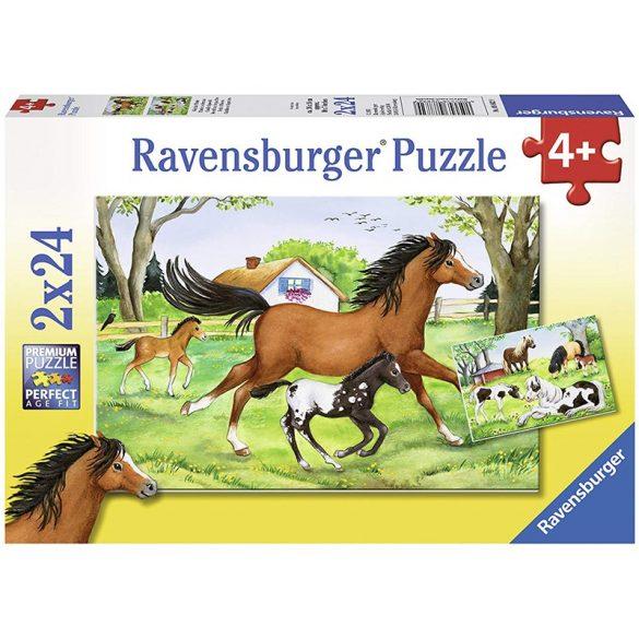 Ravensburger 2x24 db-os puzzle - Lovak 08872