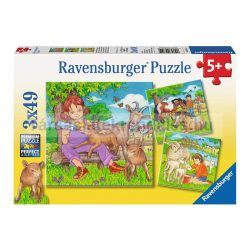 Ravensburger 3 x 49 db-os puzzle - A kedvenc állatkáim 09351