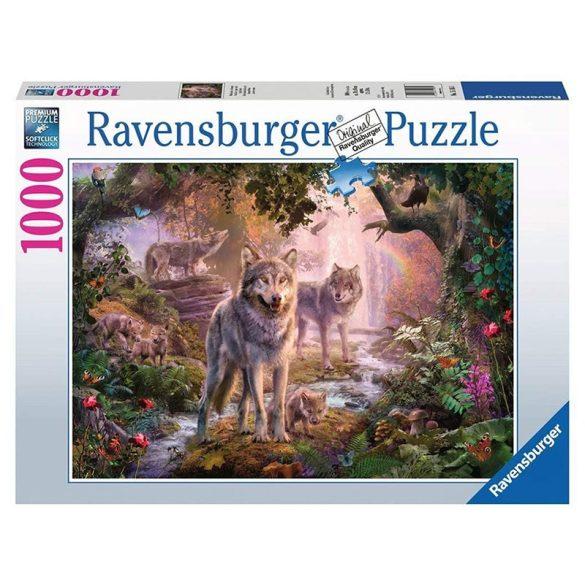 Ravensburger 1000 db-os puzzle - Farkascsalád nyáron 15185