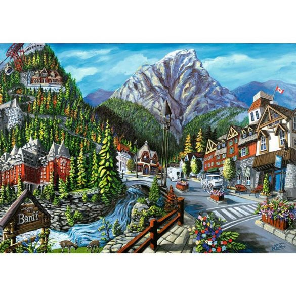Ravensburger 1000 db-os puzzle - Welcome to Banff, Canada 16481