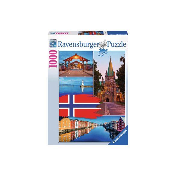 Ravensburger 1000 db-os puzzle - Trondheim kollázs 19845