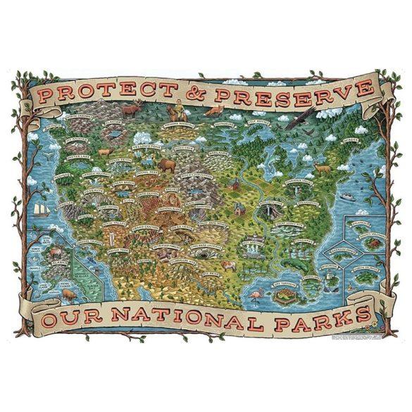 Ravensburger 1000 db-os puzzle - Észak-Amerika nemzeti parkjai 19859