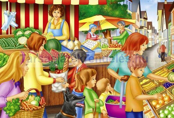 Puzzle 60 db-os - Heti piac/Weekly market - Schmidt