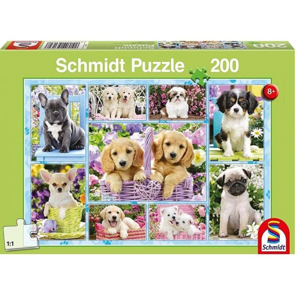 Puzzle 200 db-os - Kiskutyák - Schmidt 56162
