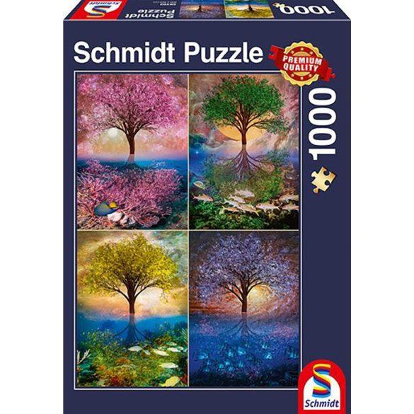 Puzzle 1000 db-os - Varázslatos fa a tónál - Schmidt 58392