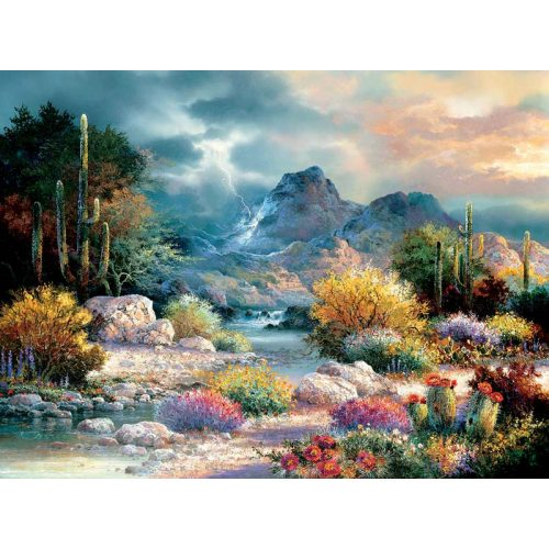 Sunsout 1000 db-os puzzle - James Lee - Springtime Valley 18085