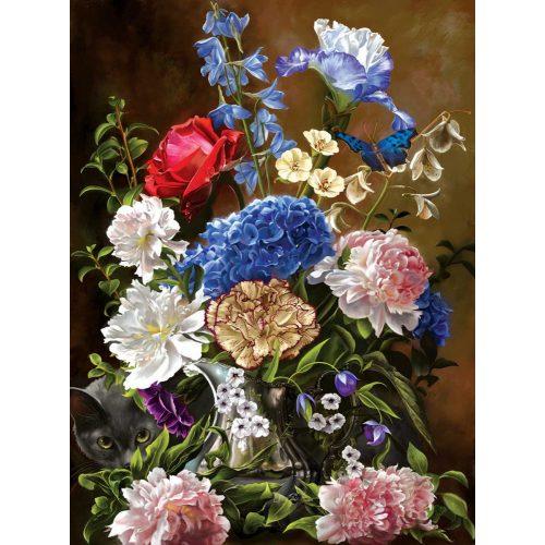 Sunsout 1000 db-os puzzle - Bouquet in Blue 67709