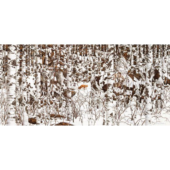 Sunsout 1000 db-os puzzle - Bev Doolittle - Woodland Encounter 74415