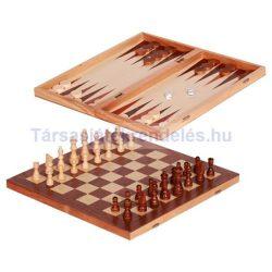 Sakk és Backgammon fából 32 cm
