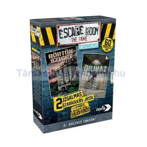 Escape Room - 2 személyes kiadás - Börtönsziget és Diliház társasjáték