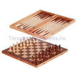 Sakk és Backgammon fából 40x40 cm