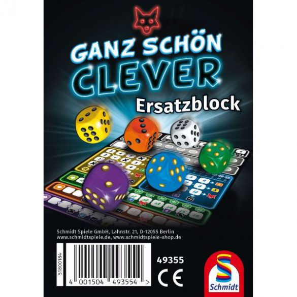 Ganz Schön Clever Ersatzblock - extra lapok