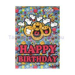 Smiley World Happy Birthday 54 darabos mini puzzle - Noris