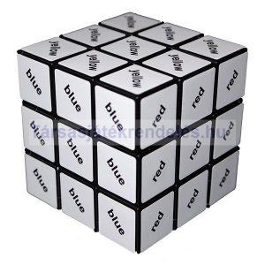 Rubik 3x3x3 fekete szöveg kocka