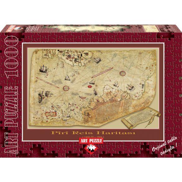 ART 1000 db-os Puzzle - The Piri Reis Map - 4308 - SÉRÜLT DOBOZOS