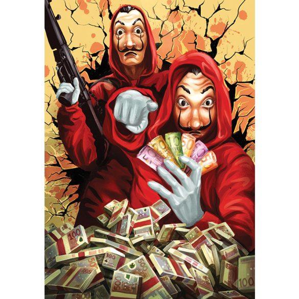ART 1000 db-os Puzzle - A nagy pénzrablás (Money Heist) Perfect Plan - 5195 - SÉRÜLT DOBOZOS