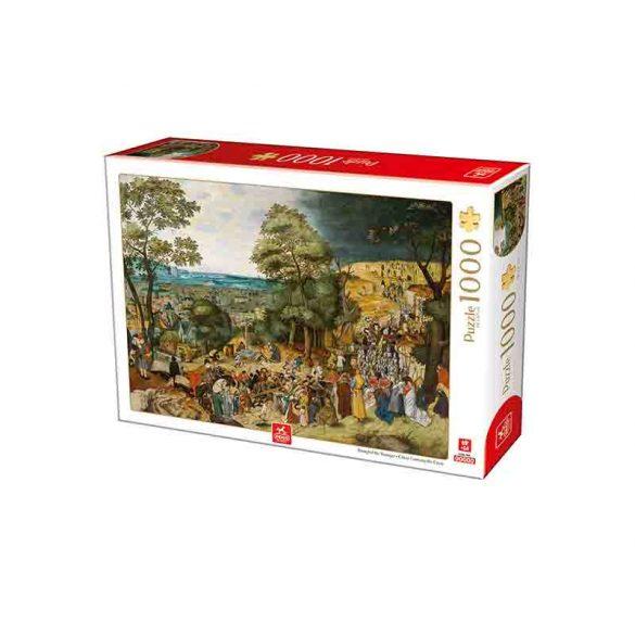 Deico Games 1000 db-os puzzle - Breughel the Younger: Christ Carrying the Cross - 76663 - SÉRÜLT DOBOZOS