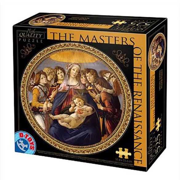 D-Toys 525 db-os puzzle - Masters of the Renaissance - Botticelli : Madonna della Melagra 66985 SÉRÜLT DOBOZOS