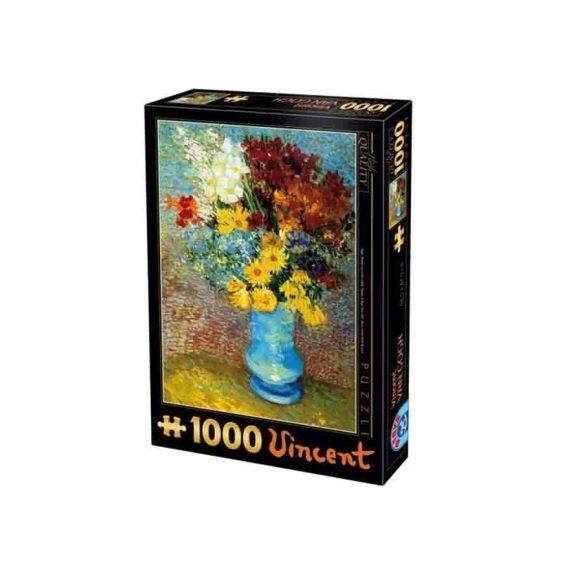 D-Toys 1000 db-os puzzle - Van Gogh: Flowers in a Blue Vase - 70258 - SÉRÜLT DOBOZOS