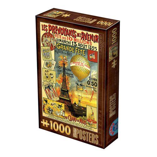 D-Toys 1000 db-os puzzle - Vintage Poster - Paris 74591 - SÉRÜLT DOBOZOS