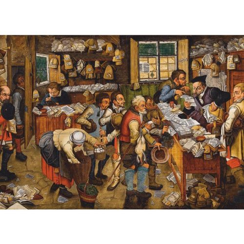 D-Toys 1000 db-os puzzle - Brueghel Pieter the Younger: The Payment of the Tithes, 1617-1622 - 74942 - SÉRÜLT DOBOZOS