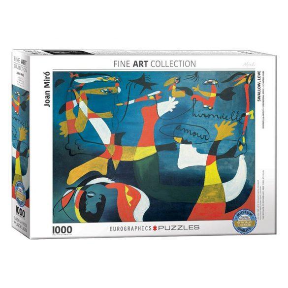 Eurographics 1000 db-os Puzzle - Joan Miro - Hirondelle Amour - 6000-0859 - Sérült dobozos