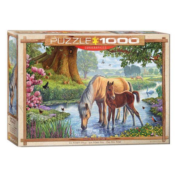 Eurographics 1000 db-os Puzzle - Steve Crisp - The Fell Ponies - 6000-0976 - Sérült dobozos