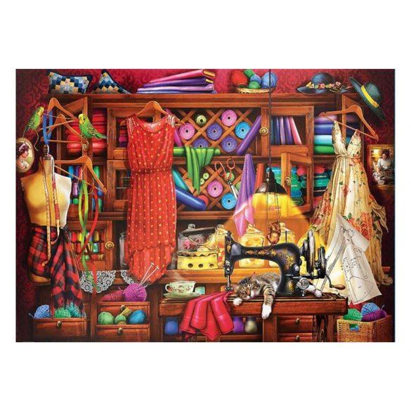 Eurographics 1000 db-os Puzzle - Sewing Room - 6000-5347 SÉRÜLT DOBOZOS