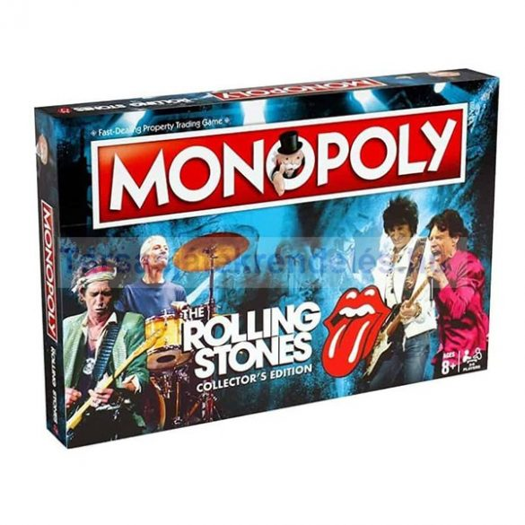 Monopoly The Rolling Stones társasjáték - gyűjtői kiadás - magyar leírással - SÉRÜLT DOBOZOS