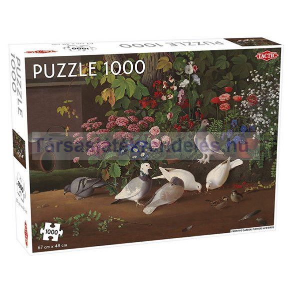 Virágok és madarak 1000 db-os puzzle - Tactic - 55246